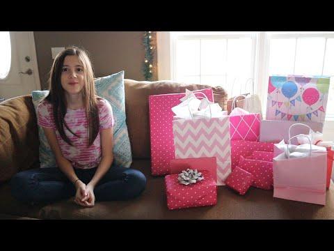 Sadie's 13th Birthday Opening Presents