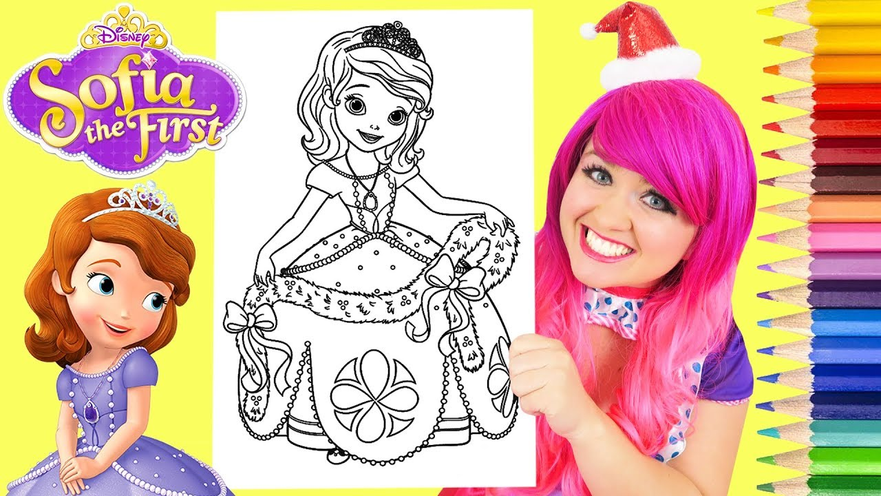 Coloring Sofia The First Clover Rabbit Coloring Page Prismacolor Colored Pencils Kimmi The Clown Youtube