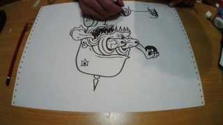 rat fink drawing time lapse monster
