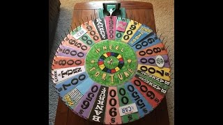my completely restored homemade wheel of fortune round 3 demo spins