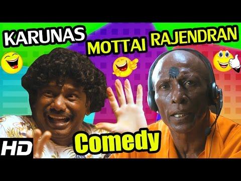 Karunas, Mottai Rajendran Comedy Scenes   Darling   GV Prakash   Nikki Galrani   Tamil Comedy