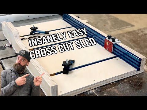 How to Build a Table Saw Sled || Table Saw Cross Cut Sled