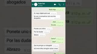 El hijo de Nazarena Vélez difundió los mensajes que le envió Fede Bal