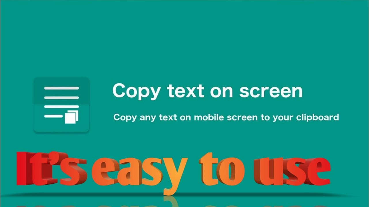 foto de copy text on screen - copy any text on mobile screen to your ...