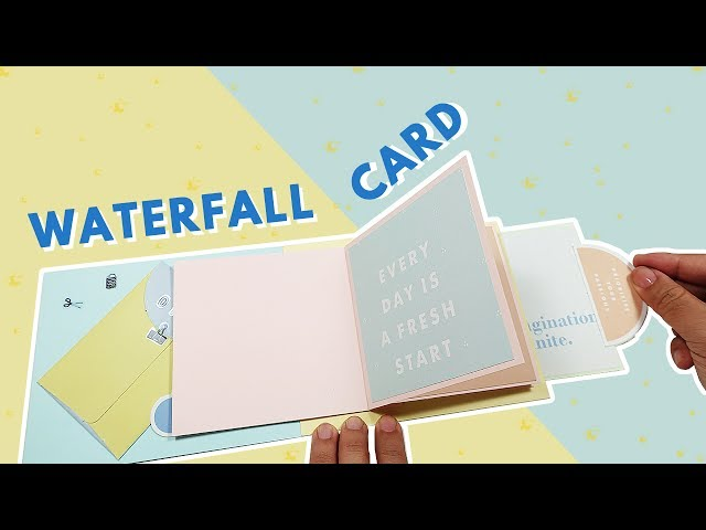 ???????????????/ How to make waterfall card tutorial | ??, ???!