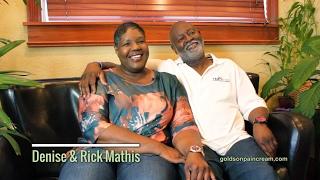 Denise and Rick Mathis - Dr Goldson's Pain Cream Testimonial (Bursitis)