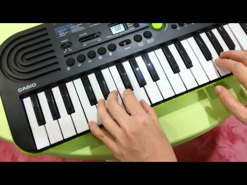 Happy Notes : Trying out CASIO SA-46 mini keyboard !