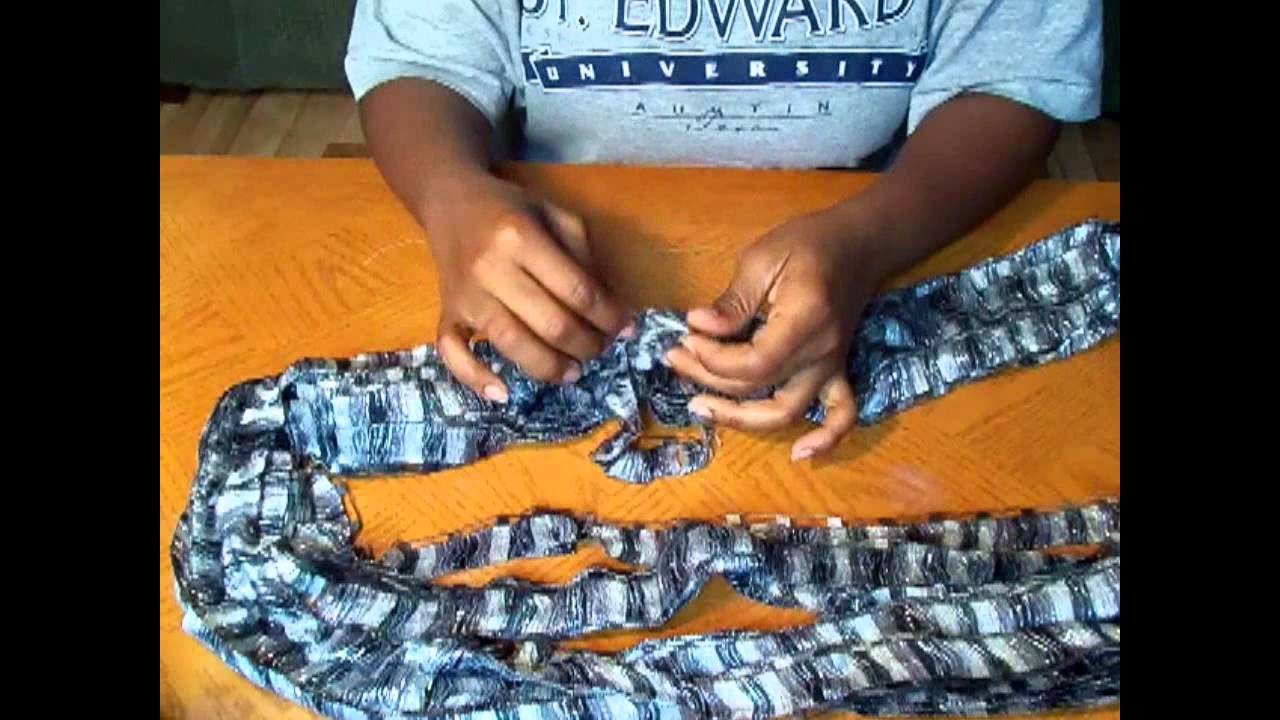 Yarn Talk: Using Red Heart Boutique Ribbons Yarn - YouTube