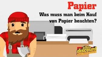 Was muss man beim Kauf von Papier beachten?