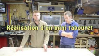 Réalisation d'un mini tabouret avec Vincent - assemblage avec tourillons