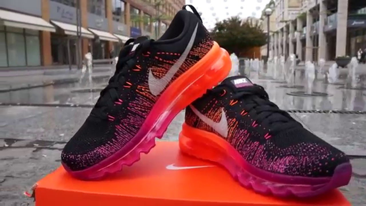 Nike Flyknit Air Max University Red Black Hyper Crimson