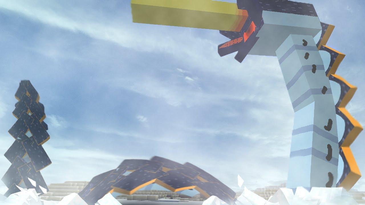【マイクラ】氷河の怪物、アイスワームリヴァイアサン‼(マインクラフトMOD紹介)(EXTREME MOBS MOD)