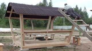 видео Деревянная альтанка на даче своими руками: этапы строительства