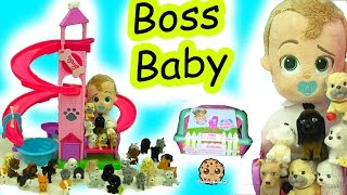 The Boss Baby with Puppy In My Pocket Surprise Blind Bag Carrier Slide Down Slide