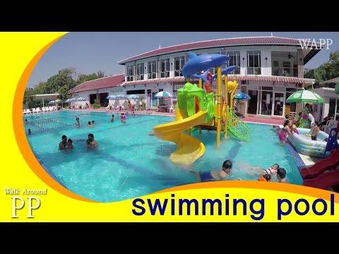 Cambodian local swimming pool