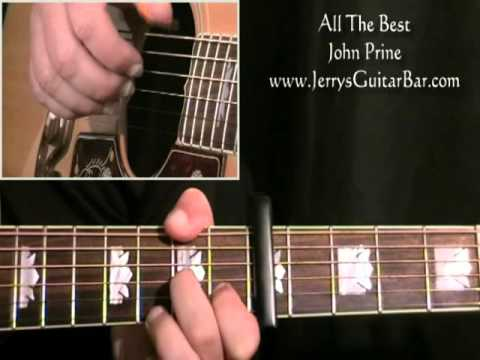 How To Play John Prine All The Best (full lesson)