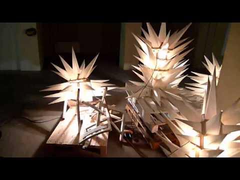light art - Bosslet - xmas in summer, 2011, Harkort Leipzig