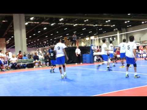 AAU Volleyball 2013- Jose Viera libero #10