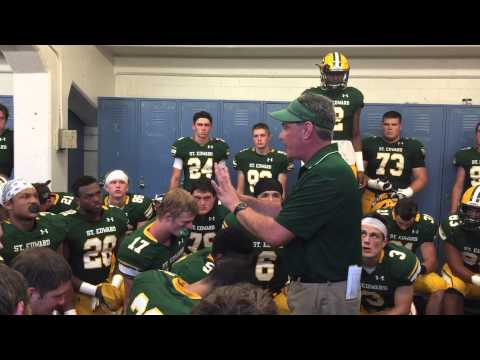 St. Edward football coach Tom Lombardo