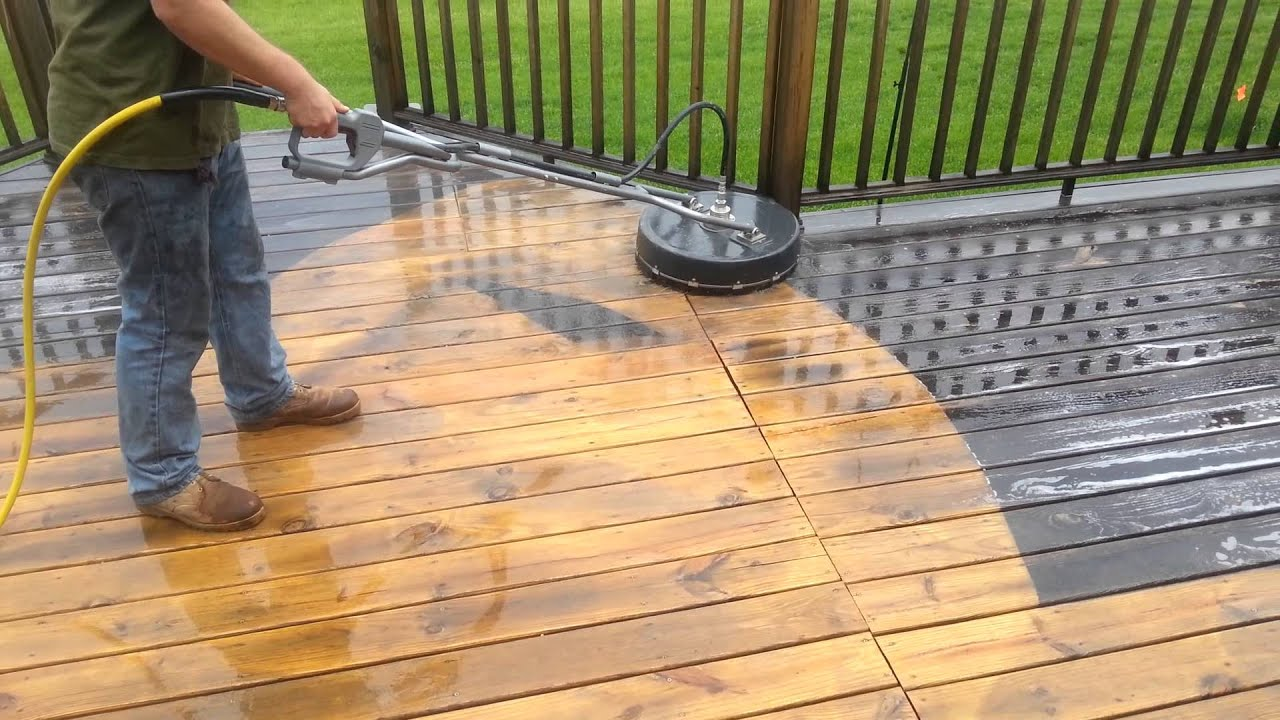 Image Gallery Deck Cleaning