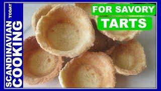 Tarteletter Opskrift - An Easy Tarlet Pastry Base For Savory Tarts - Danish Easter