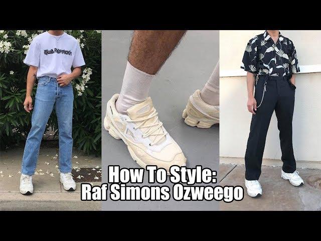 raf simons ozweego outfits