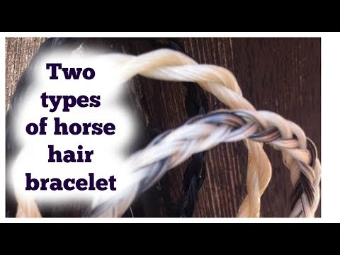 DIY Horsehair bracelet tutorial with beads