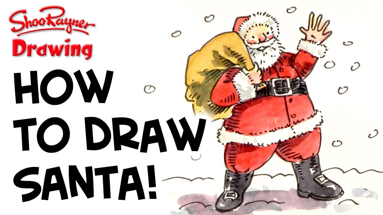 Uncategorized How Do You Draw Santa how to draw santa claus youtube