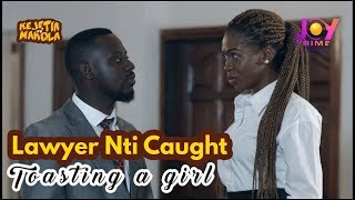 Lawyer Nti Caught Toasting a Lady