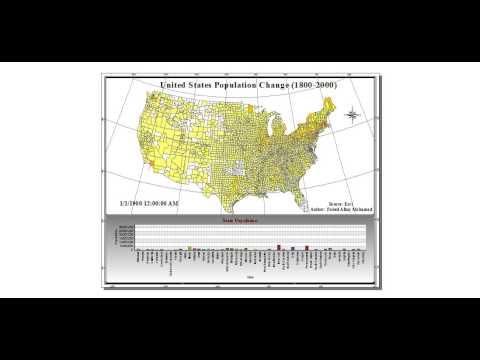 United States Population Change between 1800 - 2000