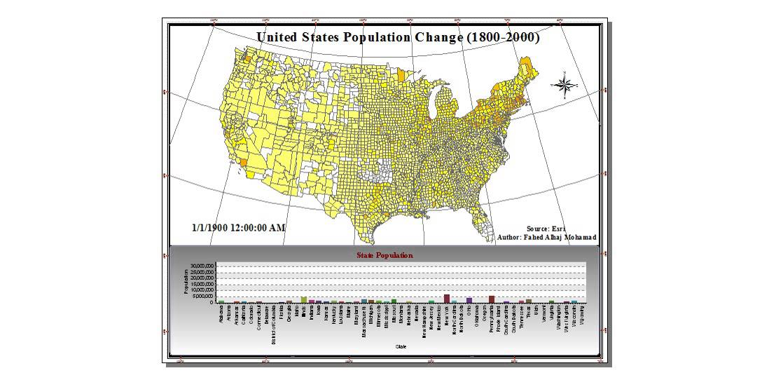 Us Map Globalinterco - Us upopulation increase map 1800s