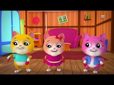 три маленьких котята детские рифмы для детей котята песня в России Cat Rhyme Three Little Kittens
