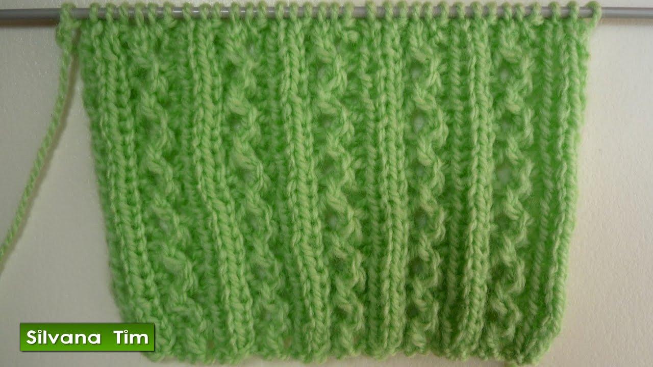 Punto puntada caminitos tejido con dos agujas para los - Como hacer punto de lana para principiantes ...