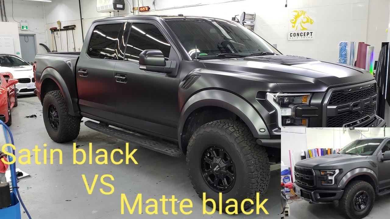 SATIN BLACK VS MATTE BLACK FORD RAPTOR  f8b3d20e7e