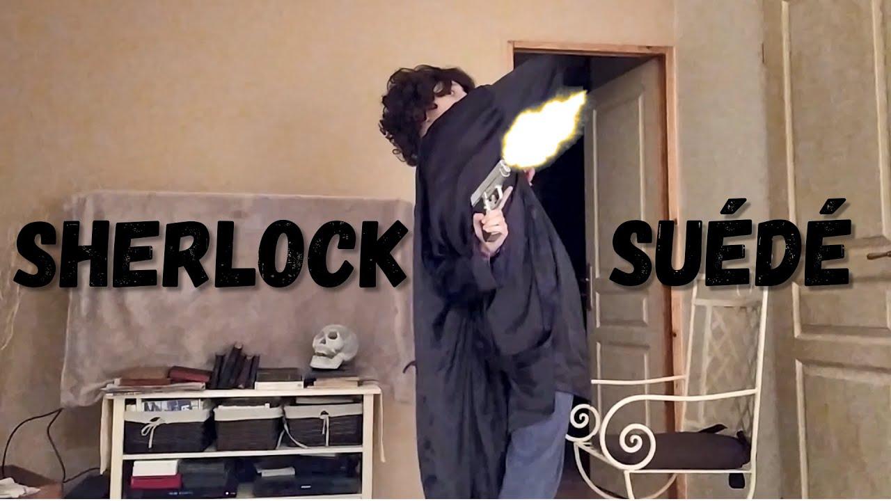 "Sherlock Suede - A recreation of the BBC's  ""Sherlock""'bored' scene."
