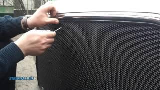 Защита радиатора Premium для MITSUBISHI LANCER 10 с 2011г.в. рестайлинг (Черный) - strelka11.ru