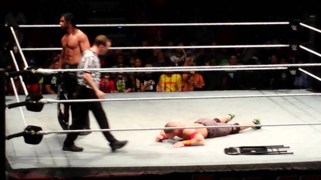 steel chair in wwe french country chairs live augusta youtube