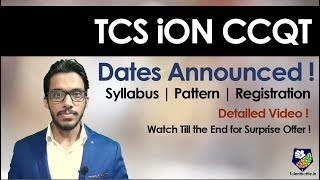 TCS iON CCQT | Detailed Video| Pattern| Syllabus | Cost | Benefits