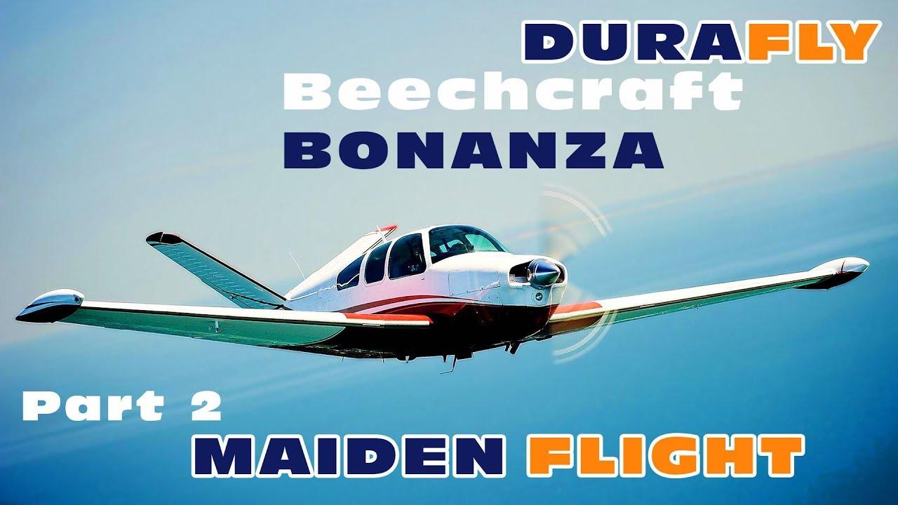Durafly / HobbyKing Beechcraft M35 Bonanza - MAIDEN FLIGHT!