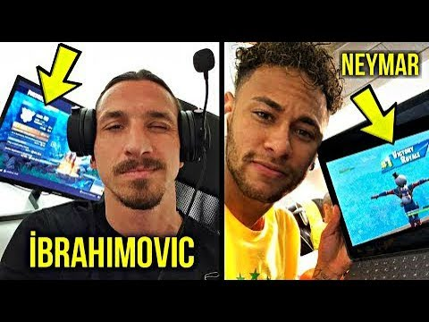 Famous Football Players Winning Fortnite - Neymar, İbrahimovic, Dele Alli
