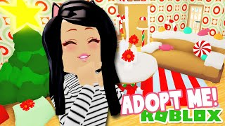 I Decorated the GINGERBREAD HOUSE Adopt Me! Roblox UPDATE Hacks Ideas