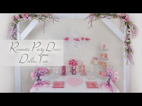 Dollar Tree Romantic Party Decor / Valentines Decor