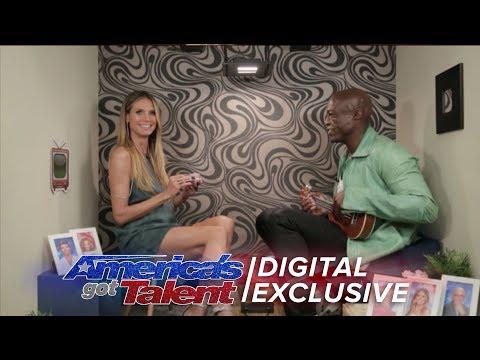 Seal and Heidi Klum Sing A Golden Buzzer Duet - America's Got Talent 2017 (Extra)