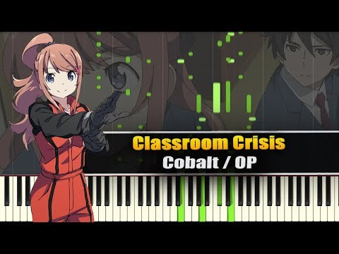 Cobalt (Classroom☆Crisis) - Synthesia / Piano Tutorial