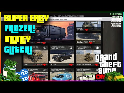 *NEW* GTA 5 super easy FROZEN! Money Glitch, Everything for FREE! Ps4, Xbox one and PC