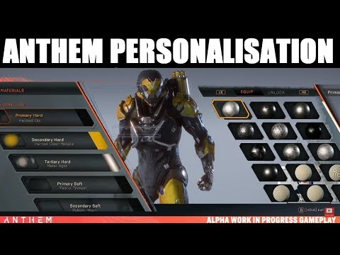 Anthem: GUIDE TO VANITY / GLAMOUR, PERSONALISATION