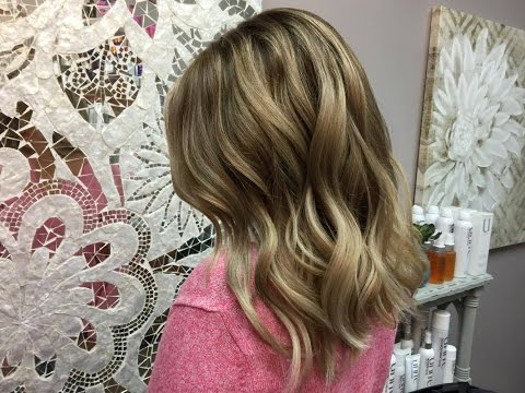 Babylights and Balayage with a Shadow root....Going blonde