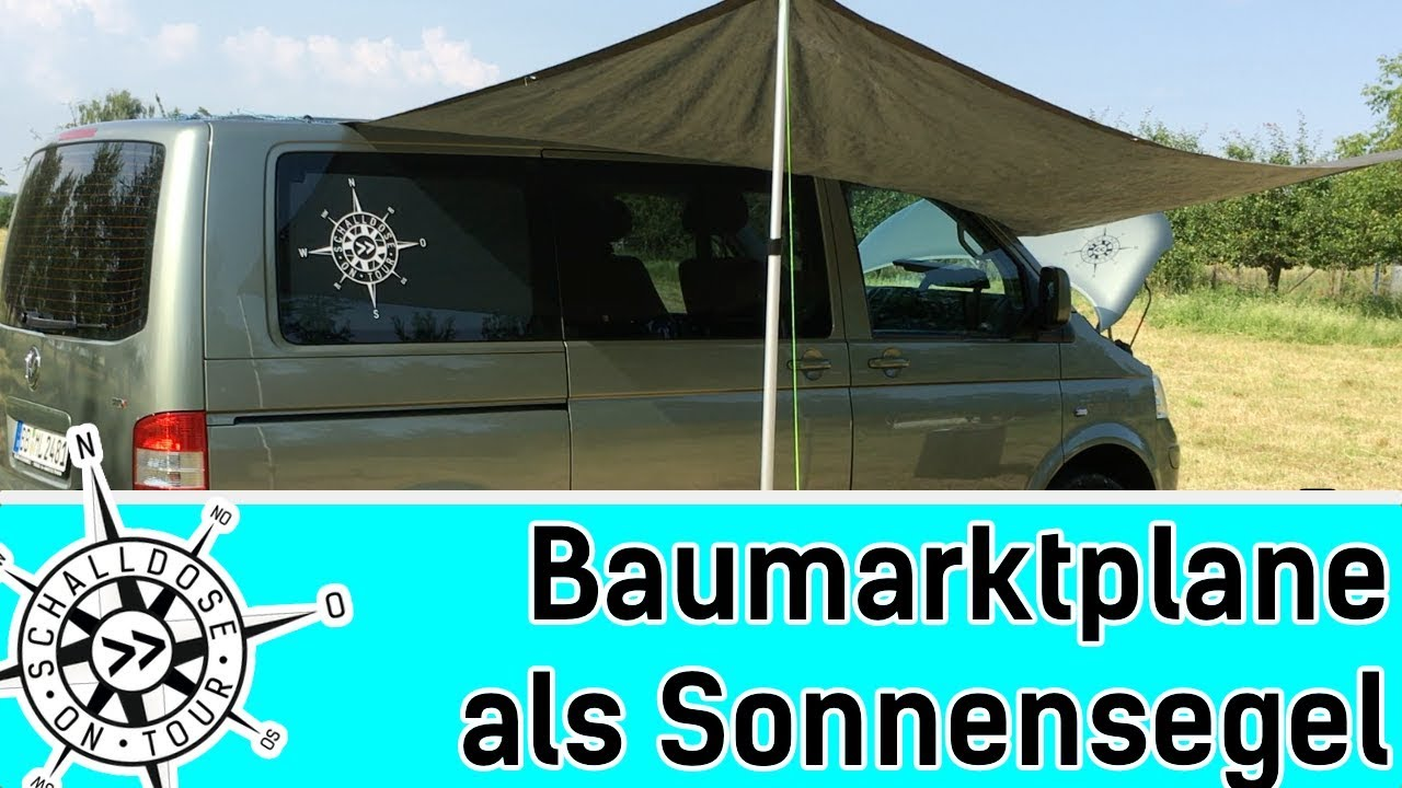 baumarktplane als sonnensegel schalldose on tour youtube. Black Bedroom Furniture Sets. Home Design Ideas