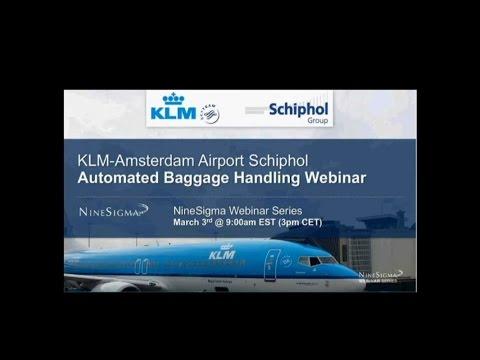 KLM Schiphol Automated Baggage Handling Challenge Webinar