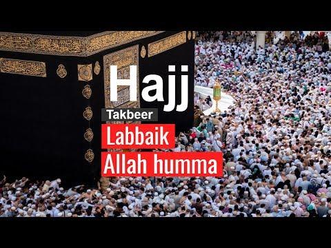 O my Allah, here I am at Your service !   Labbaik Allah humma labbaik   new hajj takbeer 2019